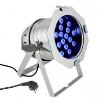 CAMEO CLP64TRI3WPS   Foco LED PAR 64 de Alto Rendimiento con 18 LEDs Tricolor Ultrabrillantes de 3V