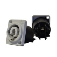 Lion Support CXP-PCCMAG | Conector Powercon Macho Gris para Chasis