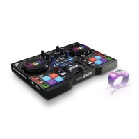 Hercules HER-INSTINCT-P8-PARTY | Controlador Dj con 8 pads de sample y pulseras multicolor (Incluye Software)