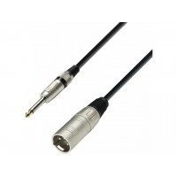 ADAM HALL K3MMP0600 | Cable de Micro de XLR macho a Jack 6,3 mm mono 6 m