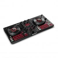 Numark MIXTRACKPLATINUMFX   Controlador de DJ Avanzado de 4 Cubiertas con Pantallas Jog Wheel y Paletas de Efectos