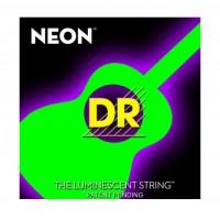 DR Strings NGA-12 | Cuerdas para Guitarra Acustica Neon Verde Fluor