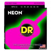 DR STRING NPA-12 | Cuerdas para Guitarra Acústica de Neon Calibres 12-54