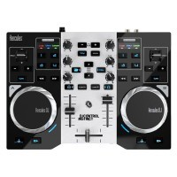 Hercules HER-INSTINCT-PARTY | Controlador para Dj de 2 decks y 2 jogwheels con luz led (Incluye Software)
